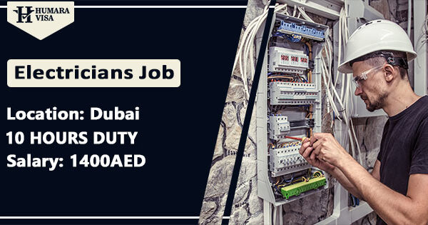 Electrician Job UAE 2021 | Get Free Visa | age less 35 | Salary 1400AED